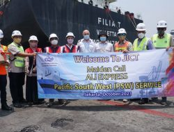 Perdana di Indonesia, Kapal Ali Express Sandar di JICT